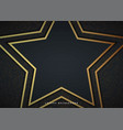abstract star 3d background with black paper vector image vector image