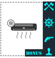 air conditioning icon flat vector image