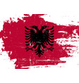 albania scratched flag vector image vector image