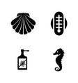 aquarium equipment simple related icons vector image vector image