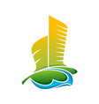 architecture building colorful icon logo vector image