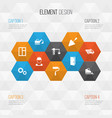 architecture icons set collection of engineer vector image vector image