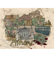 athens doodles vector image vector image