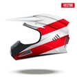 Austria Flag on Motorcycle Helmets vector image vector image
