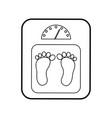 balance bathroom isolated icon vector image vector image