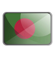 bangladesh flag on white background vector image