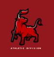 bull mascot logo design with modern vector image