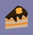 Cake Dessert Icon vector image