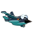 Cartoon Jetbird 2 vector image