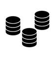 coins 3 stacks icon sign o vector image
