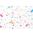 colorful confetti and ribbon celebrations design vector image vector image