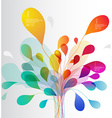 Colorful tree created from lines and leafs vector image vector image