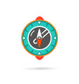 compass modern icon vector image