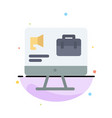 computer bag speaker job abstract flat color icon vector image