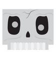 cute halloween cartoon skeleton avatar vector image vector image