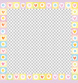 cute square love border made of doodle hearts in vector image