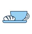 delicious coffee with bread vector image