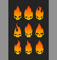 evil skulls icons vector image vector image