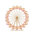 ferris wheel icon park attraction carousel vector image vector image