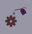 flat icon design collection gear and oil vector image vector image
