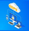 general data protection regulation - gdpr vector image