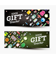 Gift voucher template with school supplies vector image vector image