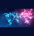 global network polygonal background vector image vector image