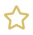 gold colored star shape medal award winning 3d vector image vector image