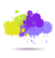Green and violet color ink vector image vector image