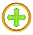 Green cross icon vector image vector image