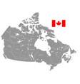 grey political map canada vector image vector image