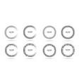 halftone circle frame dots logo emblem set vector image vector image