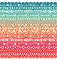 Hand drawn geometric ethnic tribal seamless vector image vector image