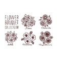 Handsketched bouquets collection vector image vector image
