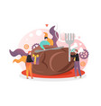 happy thanksgiving day concept for web vector image