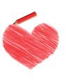 heart pencil vector image