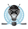 hockey emblem vector image vector image