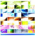 horizontal business cards vector image vector image