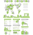 INFOGRAPHIC DEMOGRAPHICS TOY GREEN vector image vector image