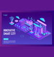 innovative smart city landing page template vector image vector image