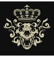 Lion skull Heraldic emblem vector image vector image