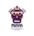 maya logo original design ethnic emblem aztec vector image