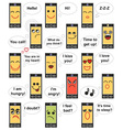 phone face emotions vector image vector image