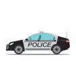 police car side view isolated on white background vector image vector image