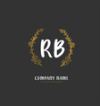 r b rb initial handwriting and signature logo vector image vector image