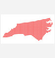 red dot map of north carolina vector image vector image
