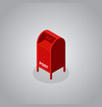red postbox isometric flat design vector image
