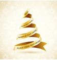 Ribbon christmas tree vector | Price: 1 Credit (USD $1)