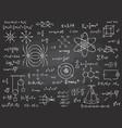 scientific formulas mathematics and physics vector image vector image