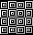 seamless black and white square pattern vector image